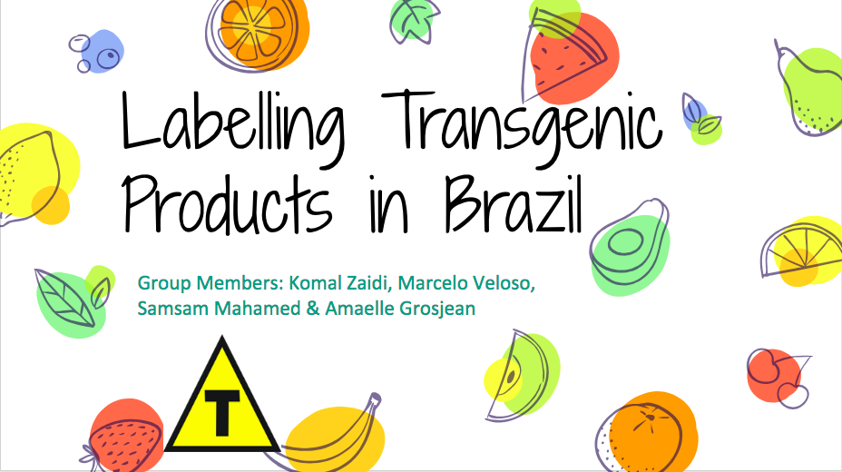 Controversy of Labelling Transgenic Products in Brazil – SOLUTIONS